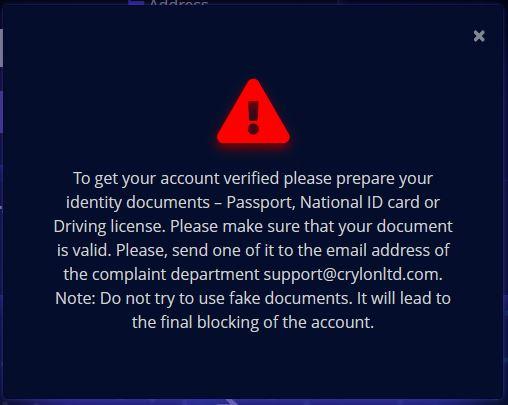 CrylonLTD Exchange Scam